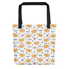 Everywhere You Go, Print Patterns, Reusable Tote Bags, Cats, Shop, Fabric, Design, Tejido, Gatos