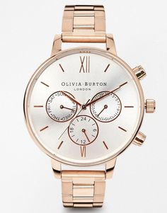 Olivia Burton | Olivia Burton Chronograph Detail Copper Watch at ASOS
