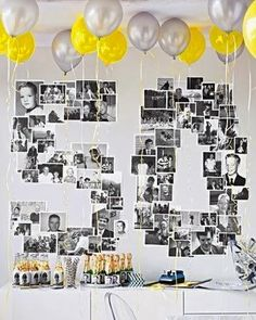 Unbelievable Adult Party Ideas Use Martha Stewart& Ideas to find simple, affordable adult birthday party themes. Adult Birthday Party, Mom Birthday, Birthday Wall, Surprise Birthday, Classy Birthday Party, Golden Birthday, Special Birthday, Fiftieth Birthday, Birthday Surprises For Him