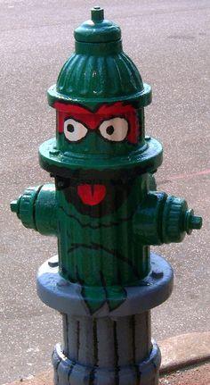 Oscar the Grouch fire hydrant
