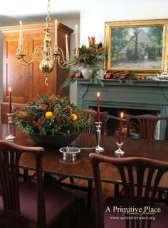 Good traditional color for dining room fireplace in a colonial home.