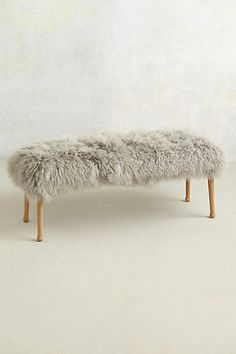 Luxe Fur Bench by anthropologie Unique Furniture, Home Furniture, Furniture Design, Apartment Furniture, Bedroom Furniture, My Dream Home, Home Decor Inspiration, Home Accessories, Home Goods