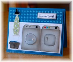 Loads of Laundry love- Cards and Paper Crafts at Splitcoaststampers Paper Punch Art, Punch Art Cards, Craft Punches, Copics, Cool Cards, Creative Cards, Scrapbook Cards, Homemade Cards, Stampin Up Cards