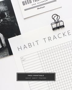 Free printable habit tracker to help you stay motivated and productive in the ne. - Free printable habit tracker to help you stay motivated and productive in the new year 2018 Planner, Planner Pages, Printable Planner, Happy Planner, Free Printables, Planner Ideas, Bullet Journal Book, Bullet Journal Habit Tracker Printable, Bullet Journals