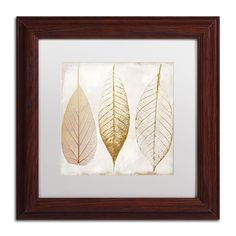 Color Bakery 'Fallen Gold II' Matted Framed Art