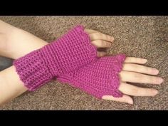 CROCHET How to #Crochet Fingerless gloves Wristers #TUTORIAL #155 - YouTube