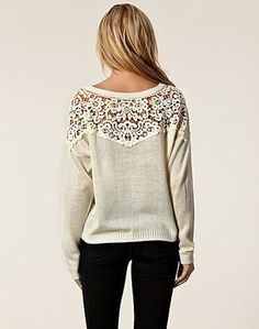 laced back sweaters.