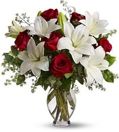 Possible Bouquet Flowers (Red Roses/ White Lillies)