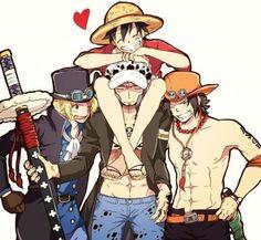 One piece – Law, Ace, Sabo, Luffy – Monkey D Luffy One Piece Comic, One Piece Ace, One Piece Manga, One Piece Series, One Piece Funny, One Piece Ship, One Piece Fanart, Monkey D Luffy, One Piece Images