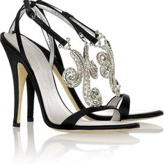 Jimmy Choo Wedding Shoes Collection for Bridals 2014 is presenting by team. Shiny sandals are Jimmy Choo and this couple offers design. Bride Shoes, Wedding Shoes, Ivory Wedding, Wedding Dresses, Black Heels, High Heels, Sexy Heels, Black Sandals, Zapatos Shoes