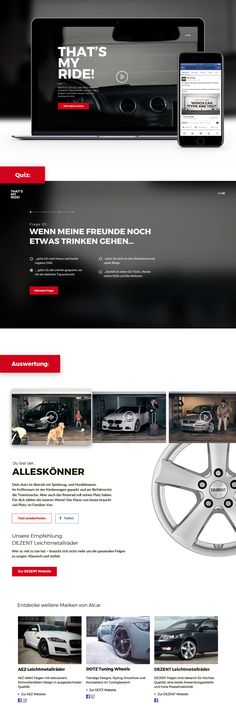 Idee, Kreation, Video Artdirektion inkl. interaktiven, internationalen Videokampagne  und Online Quiz. Quiz, My Ride, Filters, Videos