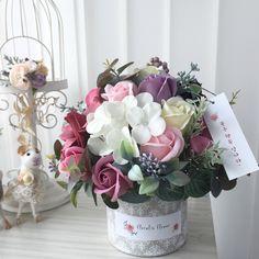 Flower Box Gift, Flower Boxes, Rose Soap, Rose Arrangements, Flower Center, Crafty Craft, Handmade Flowers, Floral Design, Floral Wreath