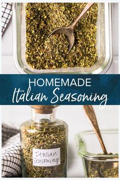 This homemade Italian seasoning recipe is made with dried herbs and is a great ingredient to have handy in your pantry. Super simple to make and so many uses! Homemade Italian Seasoning, Homemade Seasonings, Seasoning Recipe, Seasoning Mixes, Chicken Meatball Recipe Easy, Alfredo With Sausage, Drying Herbs, Real Food Recipes, Cheesecake