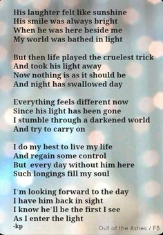 For my hubby Pete. I love you so much and miss you with every breath.
