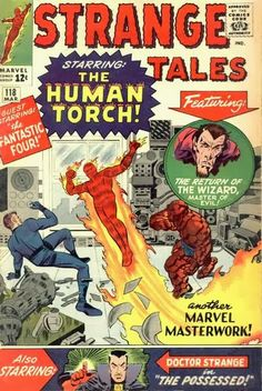 Strange Tales #118. The Human Torch vs the Wizard.