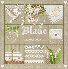 """Madame la fée - """"Blanc comme...""""  138 x 138 points"""