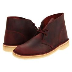 Clarks: Clarks Desert Boot Men's Lace-up Boots - Red Oak Leather