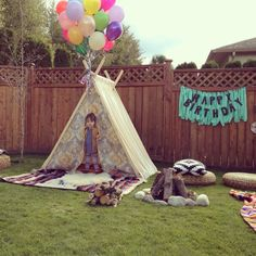 Teepee campout themed birthday.