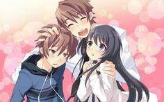 anime girl friends group cute boys