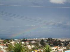 Espectaculares vistas panorámicas y un bello arcoiris! En Jardín de Fiestas Calypso Gardens!  Baja California, México!