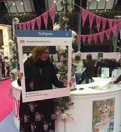 The lovely Nicola representing Wedding Magazine!