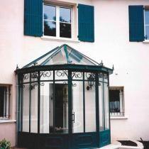 Gate Design, House Design, Sas Entree, Decorative Screen Panels, Greenhouse Plans, Sunroom, Decoration, Gazebo, Porch