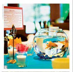 Centre de table aquarium