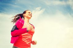 fitness, sport and lifestyle concept - smiling young woman with earphones running outdoors Stock Photo , Weight Loss Shakes, Weight Loss Diet Plan, Weight Loss Program, Lose Weight, Half Marathon Training Plan, Marathon Running, Get Running, Running Women, Cross Country
