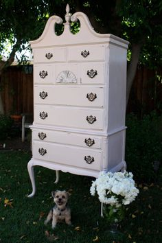 Id like to paint my bedroom furniture Queen Anne Highboy dresser