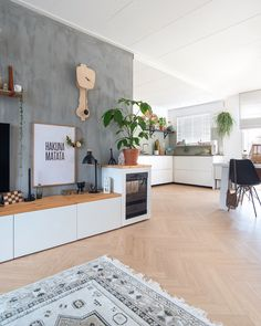 Living Room Kitchen, Home Living Room, Decoration Design, Style Vintage, Scandinavian Interior, Living Room Inspiration, Modern Interior Design, Sweet Home, New Homes