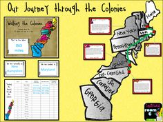 """Walking the Colonies. A great way to get the kids moving outside, and then using the laps they walked to actually """"go"""" somewhere. The kids take a """"walking"""" tour of the 13 colonies. Social Studies Notebook, 4th Grade Social Studies, Teaching Social Studies, History Education, Teaching History, American History Lessons, Elementary Teacher, Upper Elementary, Classroom Teacher"""
