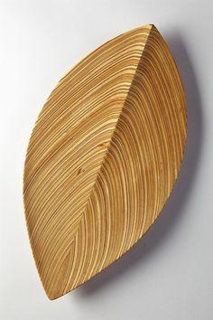 Wooden dish designed by Tapio Wirkkala for Soine et Kni, Finland. 1954. -- Hand-carved aeroplane veneer.