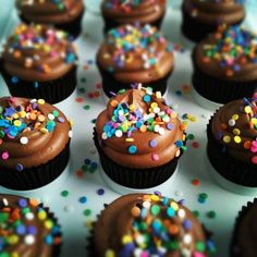 Cupcakes cu crema de ciocolata - www.Foodstory.ro