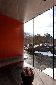 Fluss-Sauna, mit freundlicher Genehmigung von Jensen & Skodvin Architects