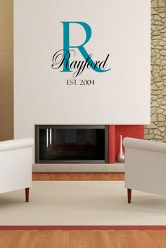 Decals That Dazzle - Established Family Name Wall Decal $15.00