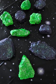 Make moon rocks with paint and glitter glue