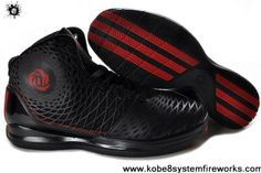 Sale Discount Adidas AdiZero Derrick Rose 3.5 Black Red Basketball 2013 Shoes Latest Now