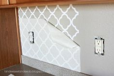 Kitchen backsplash pantry or bathroom upgrade by LandeeOnEtsy, $5.50 great idea! -See people Wall Decals are freaking AMAZING!