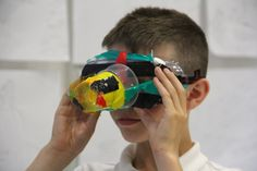 Workshop for year 5 pupils, led by Isabella Martin at the Sainsbury Centre. The children all made viewing devices, to help them to see the world differently.