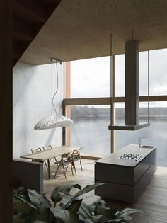 <p>Situated at a hillside in Chodziez, Poland, this house designed by Polish architectural firm DE.MATERIA, is wholly cladded with corten steel and features huge glass windows that overlook a lake. Th