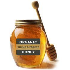 Organic THYME & FOREST Honey nectar in jar