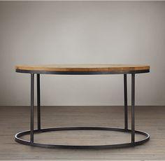 Watts Reclaimed Oak Round Coffee Table