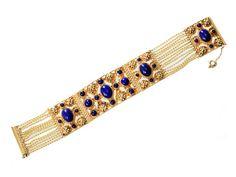 A King's Ransom - Gold & Lapis Bracelet - The Three Graces