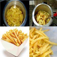 Batata frita na pressão – Caderno de Receitas