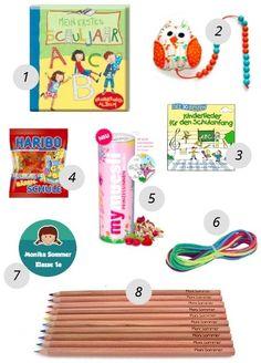 Beispiel: Schultüteninhalt für Mädchen + Liste mit 131 Geschenkideen für die Schultüte zur Einschulung