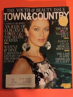 TOWN & COUNTRY~MAY 2016~CAROLYN MURPHY~ANTI-ALLERGY DIET~ESTEE…