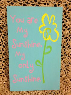 Wooden Sign: You Are My Sunshine on Etsy, $25.00