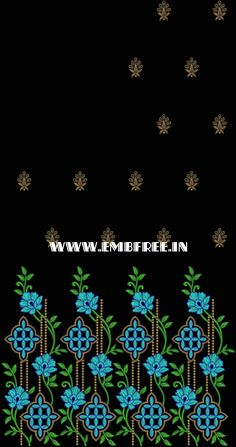 pallu, skatt, saree, emb free , embroidery design