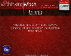 Thinking Witch Aquarius Fact for today