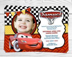 Cars Lightning McQueen Party Invitation Photo by LuvibeeKidsCo Disney Cars Party, Disney Cars Birthday, Cars Birthday Parties, Birthday Bash, Birthday Invitations, Birthday Ideas, Lightning Mcqueen Party, Lightening Mcqueen, Mc Queen Cars